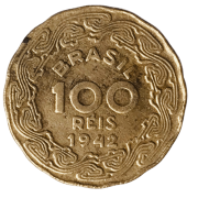 Moeda Brasil 100 Réis 1942 Getúlio Vargas mbc