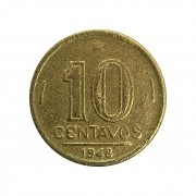 Moeda Brasil 10 Centavos 1948 José Bonifácio MBC