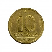 Moeda Brasil 10 Centavos 1950 José Bonifácio MBC