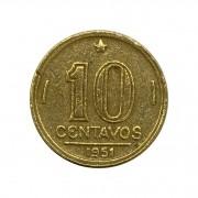 Moeda Brasil 10 Centavos 1951 José Bonifácio MBC