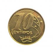 Moeda Brasil 10 Centavos 1998 FC