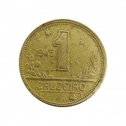 Moeda Brasil 1 Cruzeiro 1945 MBC