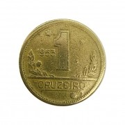Moeda Brasil 1 Cruzeiro 1953 MBC