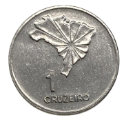 Moeda Brasil 1 Cruzeiro 1972 MBC