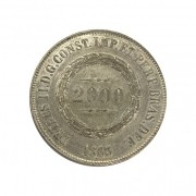 Moeda Brasil 2000 réis 1863. Prata