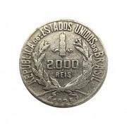 Moeda Brasil 2000 reis 1925 MBC