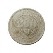 Moeda Brasil 200 Réis 1889 MBC