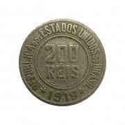 Moeda Brasil 200 Réis 1919 MBC