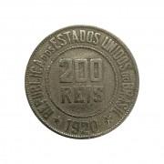 Moeda Brasil 200 Réis 1920 MBC