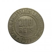 Moeda Brasil 200 Réis 1921 MBC