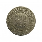 Moeda Brasil 200 Réis 1924 MBC