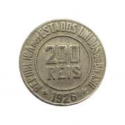 Moeda Brasil 200 Réis 1926 Escassa MBC