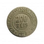 Moeda Brasil 200 Réis 1927 MBC