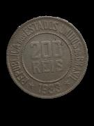 Moeda Brasil 200 Réis 1933 Escassa MBC