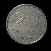 Moeda Brasil 20 cruzeiros 1986 MBC