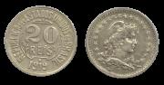 Moeda Brasil 20 Réis 1919 FC