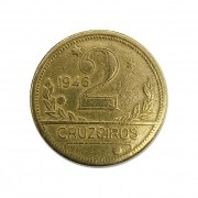 Moeda Brasil 2 Cruzeiros 1946 MBC