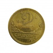 Moeda Brasil 2 Cruzeiros 1949 MBC