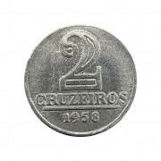 Moeda Brasil 2 Cruzeiros 1958 FC