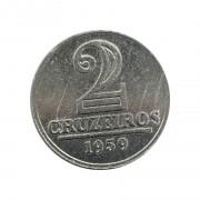 Moeda Brasil 2 Cruzeiros 1959 FC
