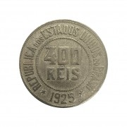 Moeda Brasil 400 Réis 1925 MBC