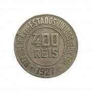 Moeda Brasil 400 Réis 1927 MBC