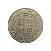 Moeda Brasil 400 Réis 1930 MBC