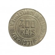 Moeda Brasil 400 Réis 1931 MBC