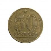Moeda Brasil 50 Centavos 1943 Getúlio Vargas MBC