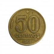 Moeda Brasil 50 Centavos 1946 Getúlio Vargas MBC