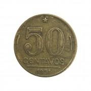 Moeda Brasil 50 Centavos 1951 Gaspar Dutra MBC
