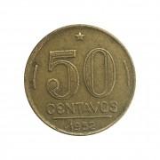 Moeda Brasil 50 Centavos 1952 Gaspar Dutra MBC