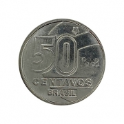 Moeda Brasil 50 Centavos 1990 FC