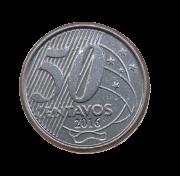 Moeda Brasil 50 Centavos 2016 SOB