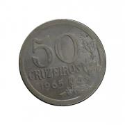 Moeda Brasil 50 cruzeiros  1965