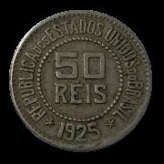 Moeda Brasil 50 Reis 1925