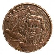 Moeda Brasil 5 Centavos 2002 Batida Dupla MBC
