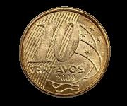Moeda Colecionável Brasil 10 Centavos 2009 FC