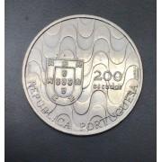 Moeda de Portugal 200 Escudos - Presindencia da comunidade europeia - 1992