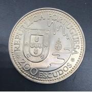 Moeda de Portugal 200 Escudos - Tanegashima 1543-1993