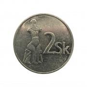 Moeda Eslováquia 2 Coroas 1993 SOB