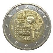 Moeda Eslováquia 2 euro, 2020 20th Anniversary - Slovakian membership in the OECD