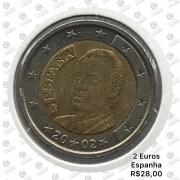 Moeda Espanha 2 Euros 2002 MBC