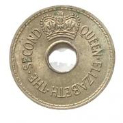 Moeda Fiji 1 Penny 1966