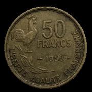Moeda França 50 Francos 1953 MBC