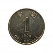 Moeda Hong Kong 1 Dólar 1998 MBC