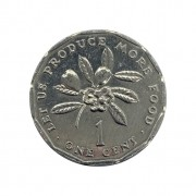 Moeda Jamaica 1 Cêntimo 1990 SOB