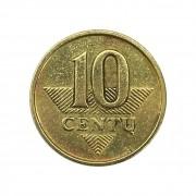 Moeda Lituânia 10 Centy 2007 MBC
