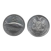 Moeda Namíbia 5 Cêntimos FAO 2000 SOB