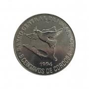Moeda Nicarágua 5 Centavos de Cordoba 1994 FC
